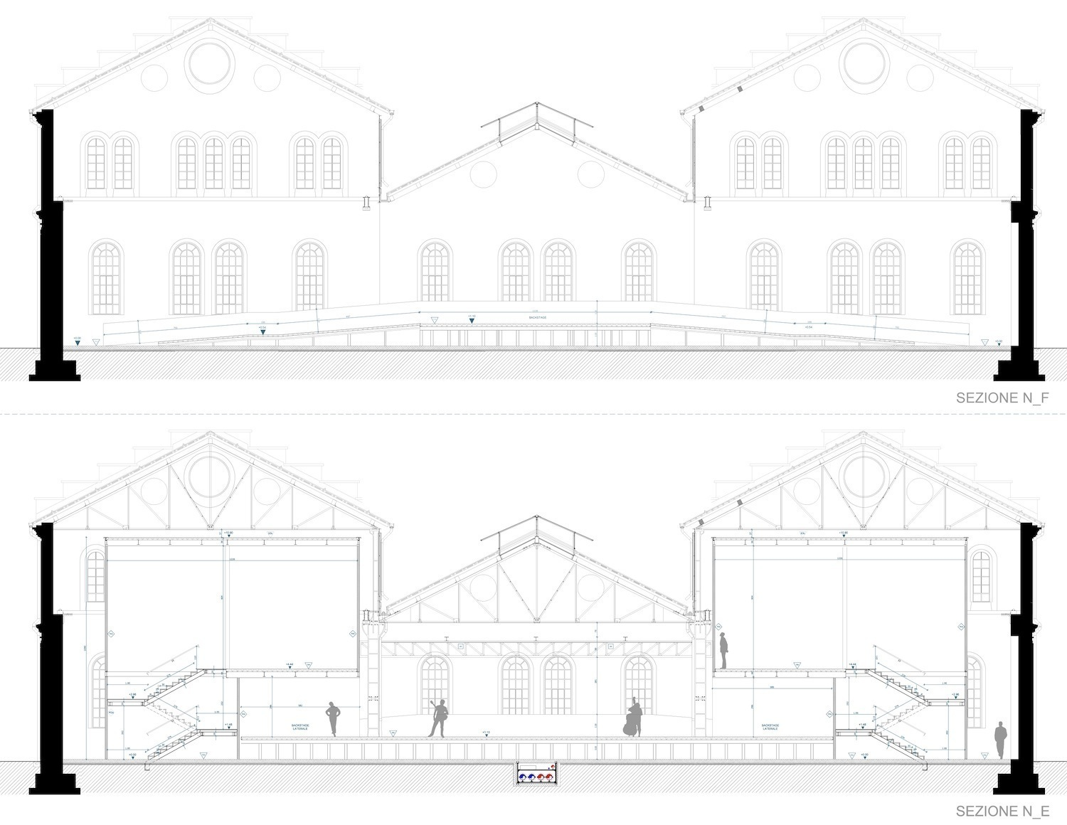 OFFICINE NORD_SEZIONE PALCO FOR ENGINEERING ARCHITECTURE}