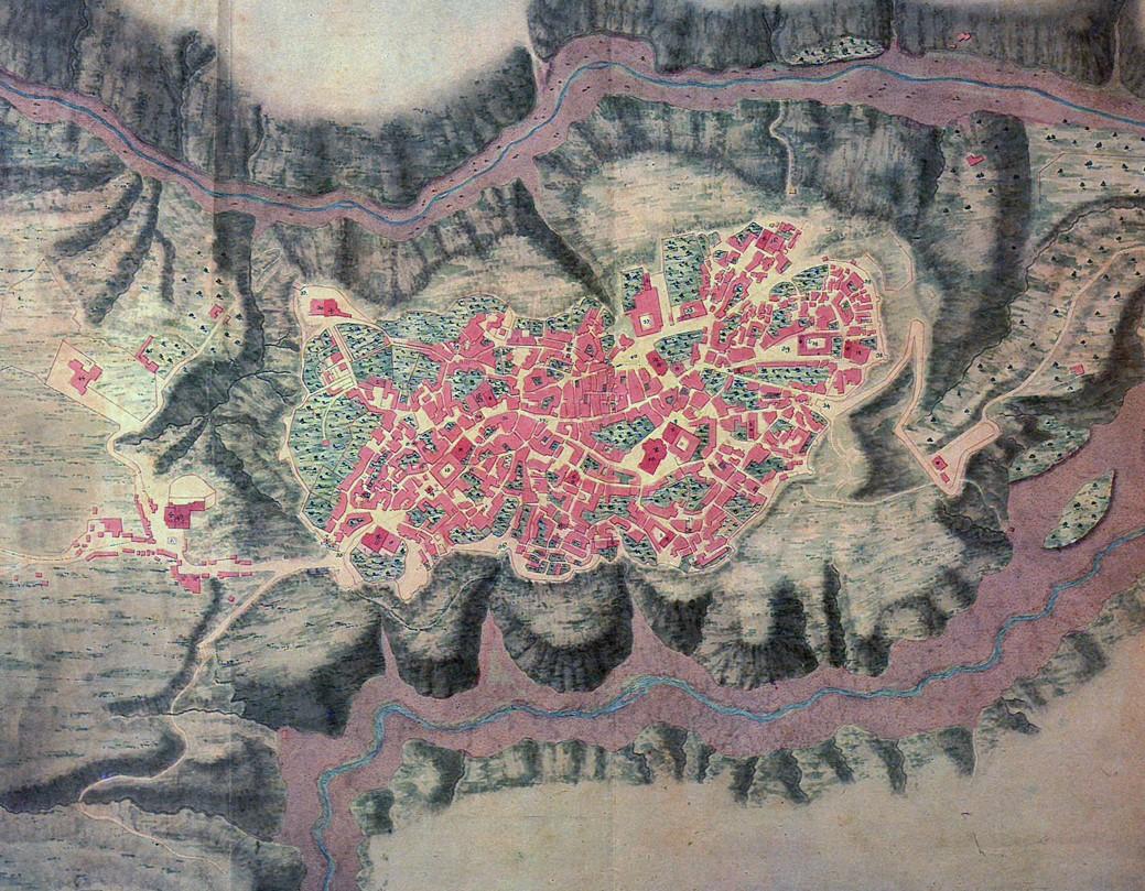 01_Planimetria di Catanzaro (1809-1814) Archivio Storico Catanzaro