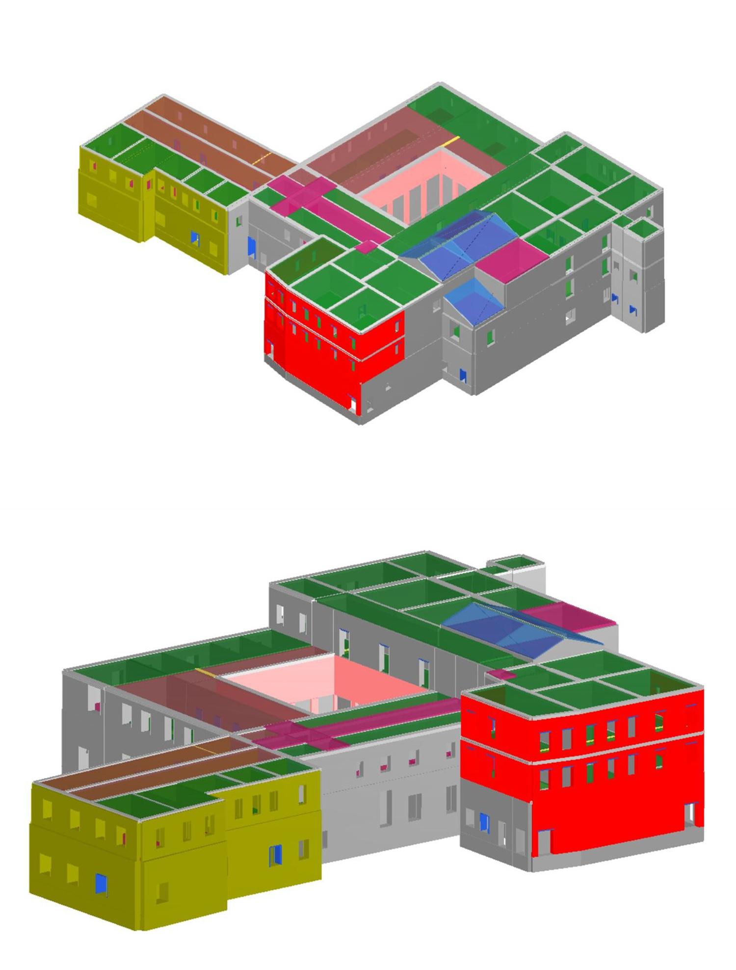Modello strutturale Corpo 1 Corvino + Multari}