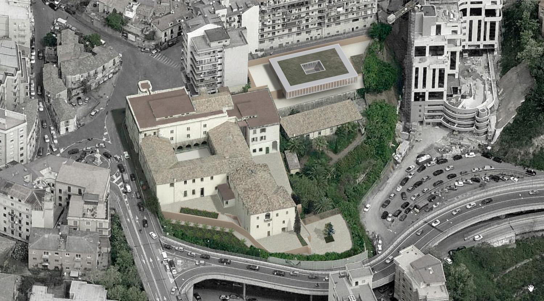 Vista da da Sud: progetto Corvino+Multari