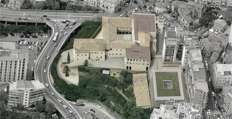 Vista da da Sud - Est: progetto Corvino+Multari