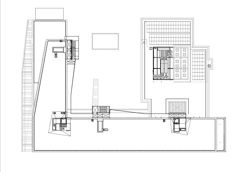 Pianta copertura e pannelli fotovoltaici Atelier(s) Alfonso Femia - AF517}