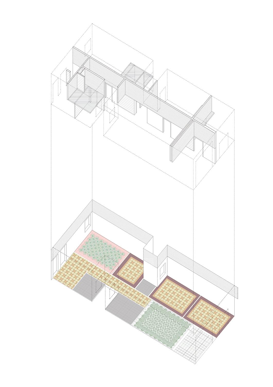 axonometry. ground floor vora}