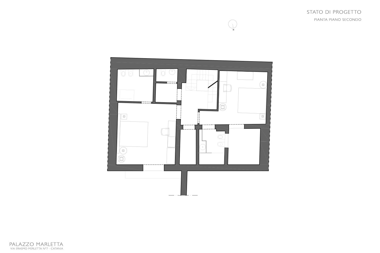 Pianta Piano secondo progetto Studio Arch. Anna Polisano}