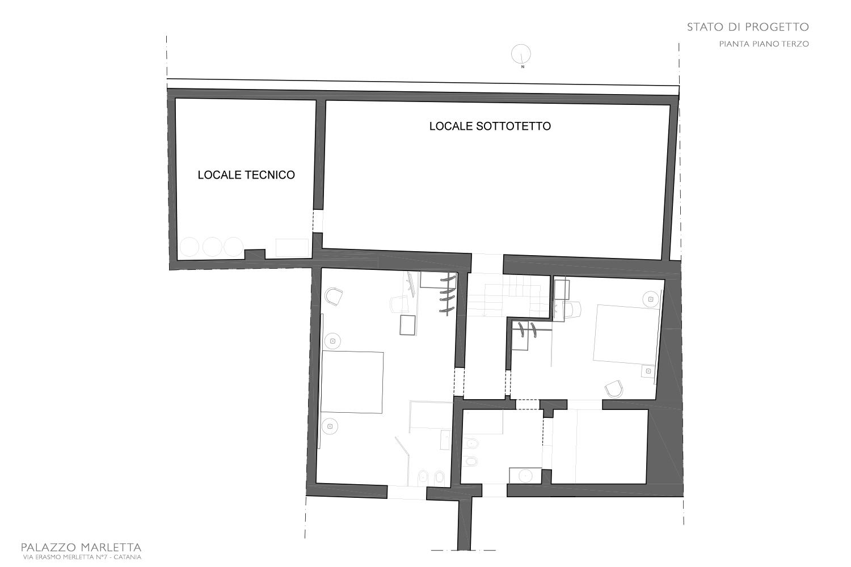 Pianta piano terzo progetto Studio Arch. Anna Polisano - Icoger srl}