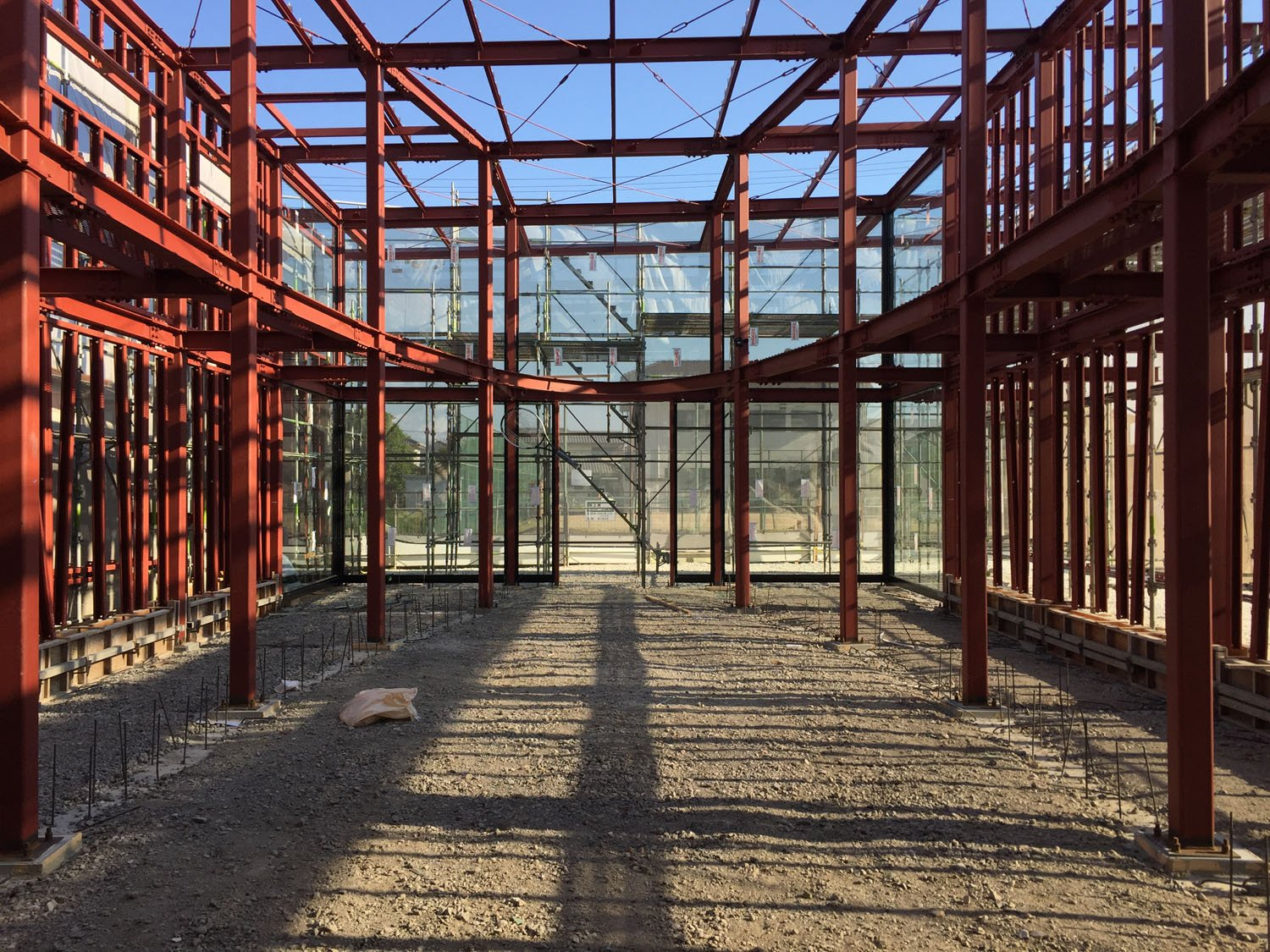 Construction site from interior M.A.W}