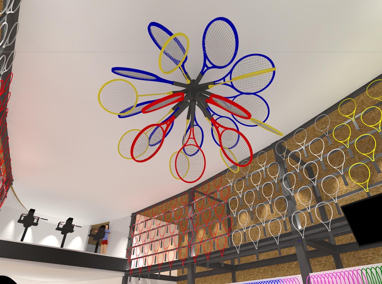 CG racket efflorescence sculpture M.A.W}