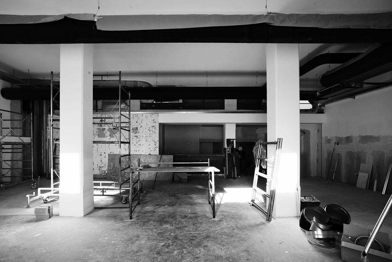 Cantiere novembre 2017, negozio Photo Mario Frusca}