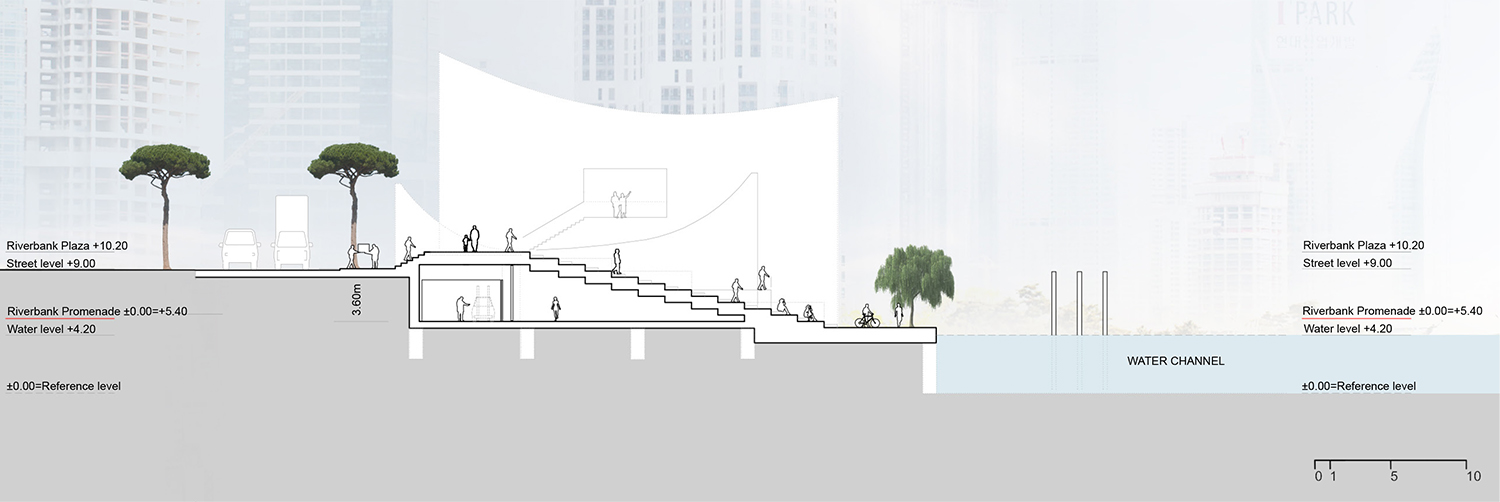 Section CC_Outdoor Theater © JADRIC ARCHITEKTUR ZT GmbH & TONGJI ARCHITECTURAL DESIGN AND RESEARCH INSTITUTE