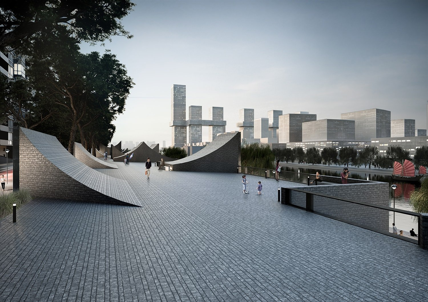 Rooftop Plaza © JADRIC ARCHITEKTUR ZT GmbH & TONGJI ARCHITECTURAL DESIGN AND RESEARCH INSTITUTE