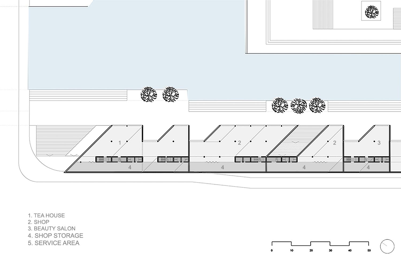 Ground floor plan zoom in © JADRIC ARCHITEKTUR ZT GmbH & TONGJI ARCHITECTURAL DESIGN AND RESEARCH INSTITUTE