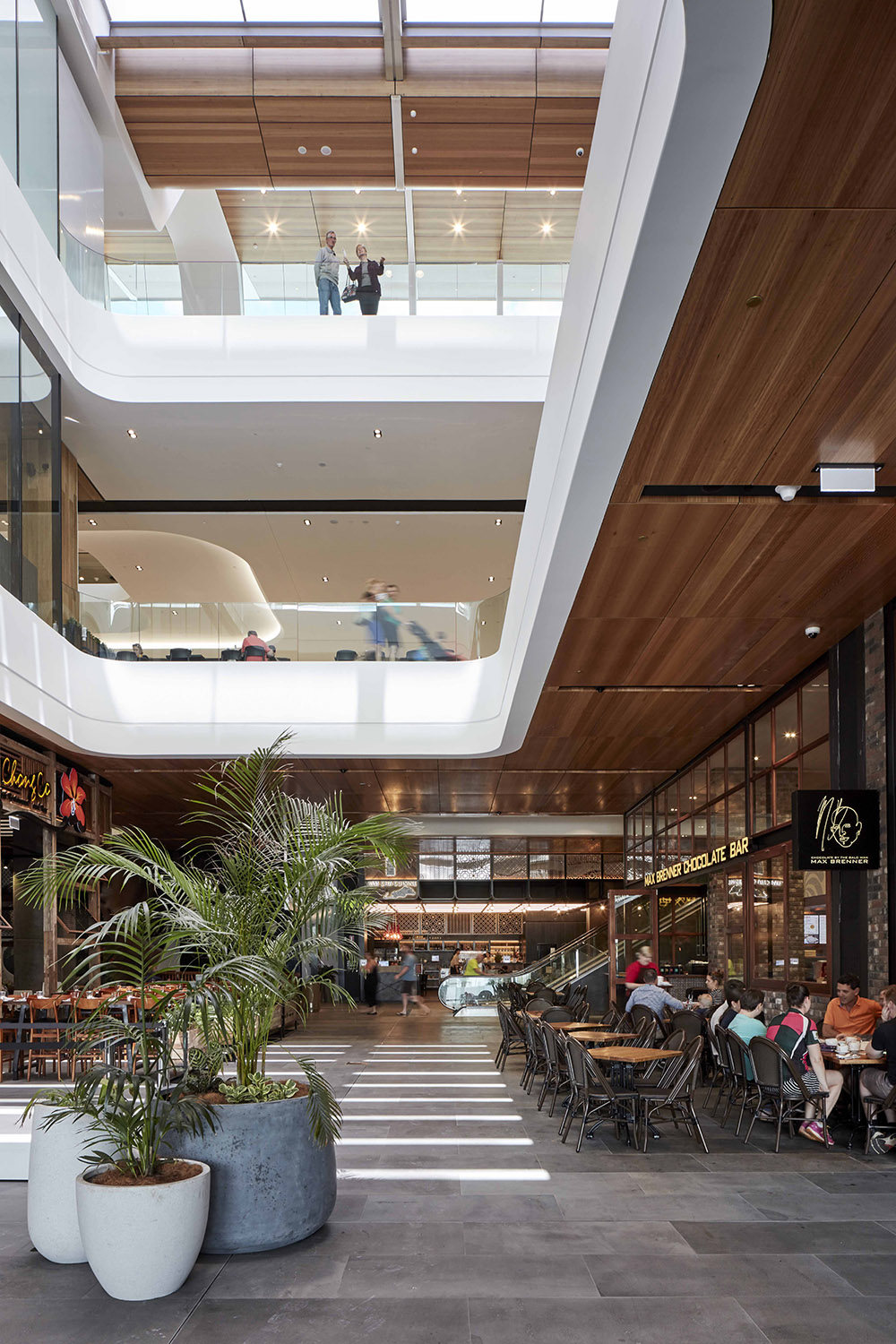 The internal retail environments are akin to arcades and gallerias, infused with natural light and connected to the surrounding city. Christopher Frederick Jones