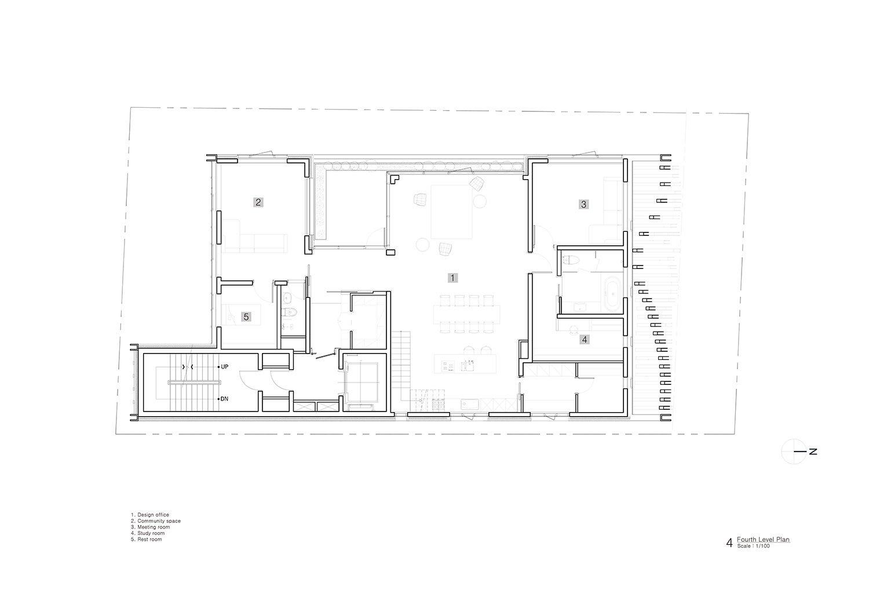 Fourth Level Plan Unsangdong Architects Co., Ltd.}