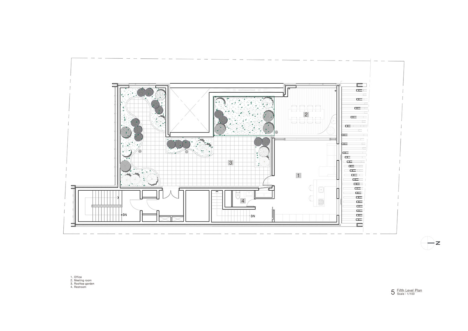 Fifth Level Plan Unsangdong Architects Co., Ltd.}