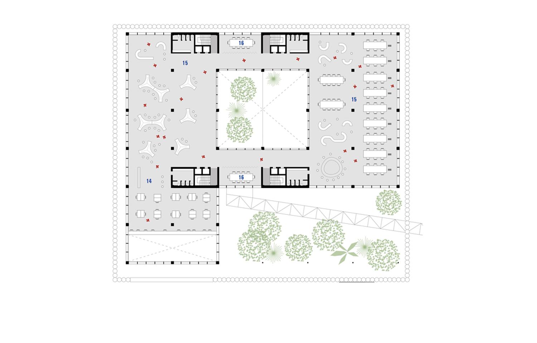 Pianta Piano Secondo e Terzo MIDE architetti