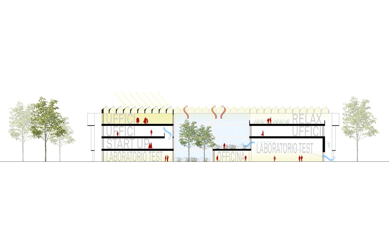 Sezione Trasversale MIDE architetti