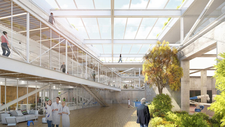 Vista lobby centrale TA.R.I-Architects