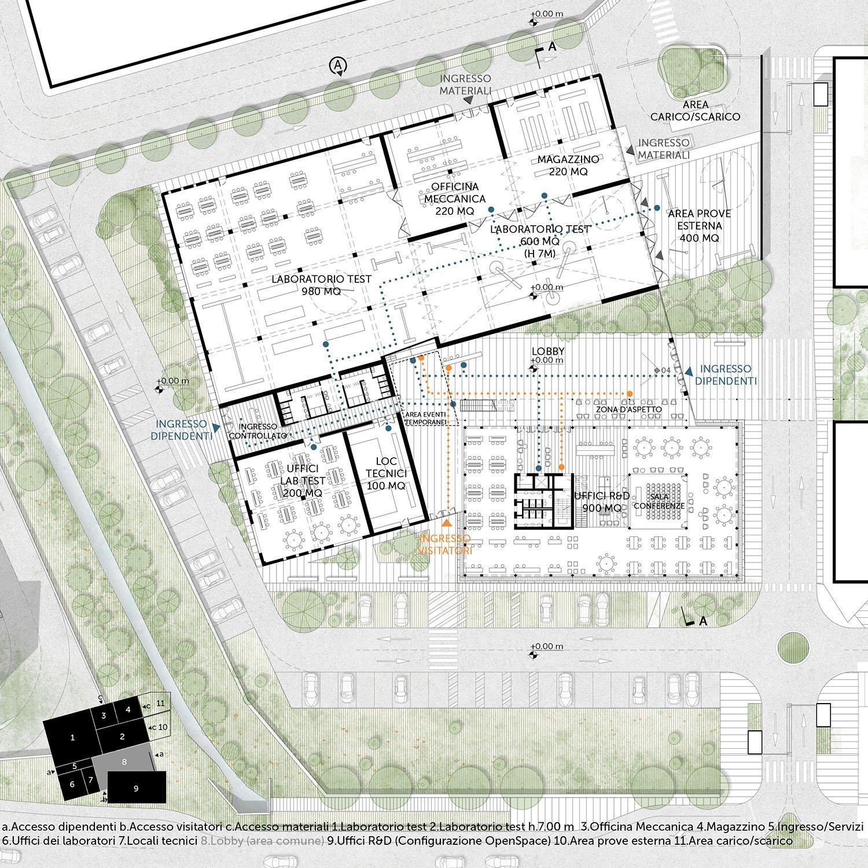 Pianta piano terra TA.R.I-Architects