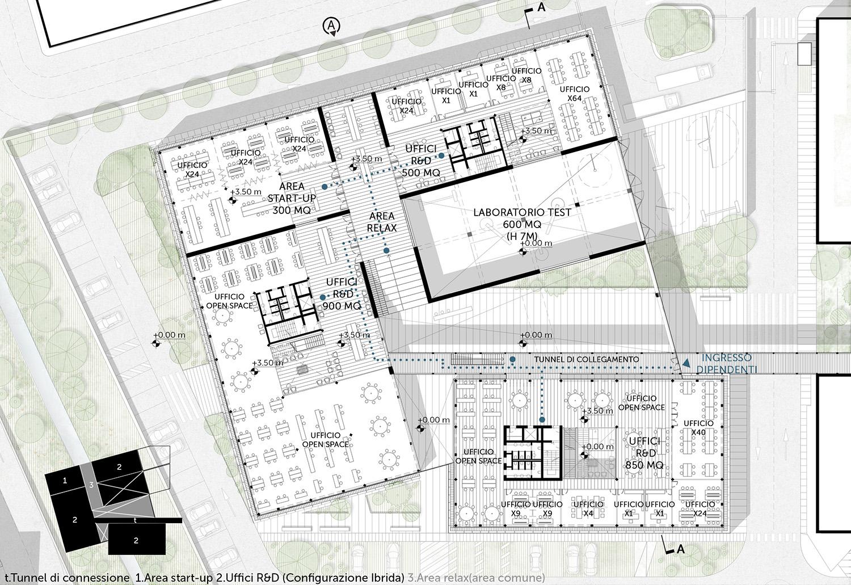 Pianta piano primo TA.R.I-Architects
