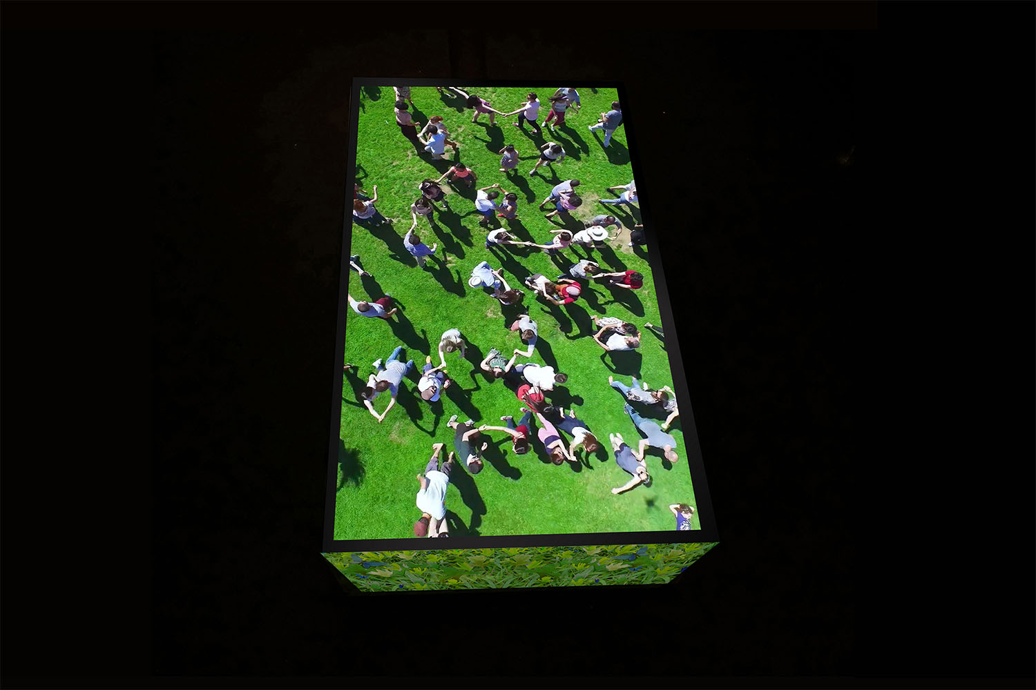 Photograph Looking down on Video screen Louise Braverman Architect