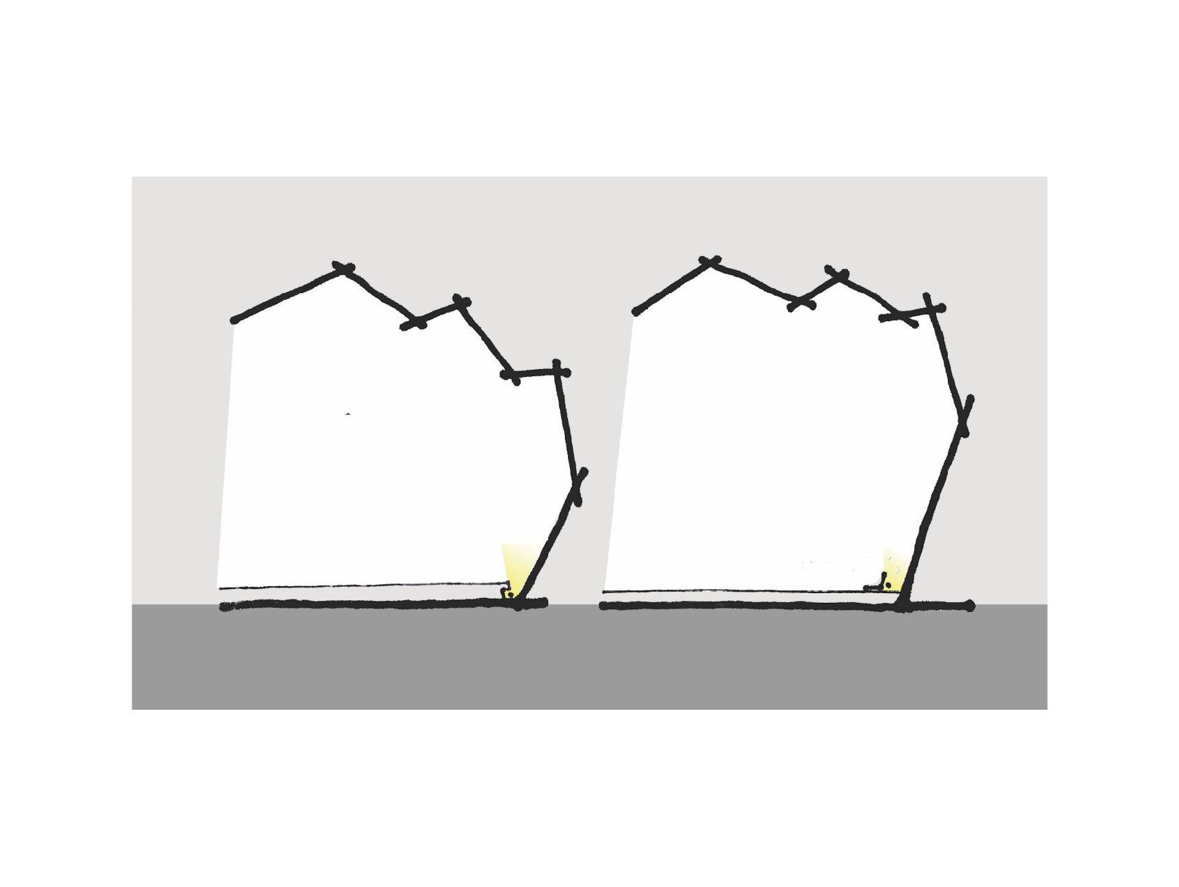 Lighting design sketch RIMA Arquitectura}