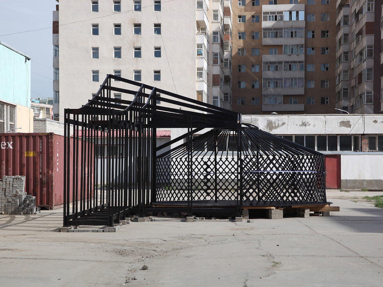 Ger Plug-in timber frame prototype Rural Urban Framework (RUF)}