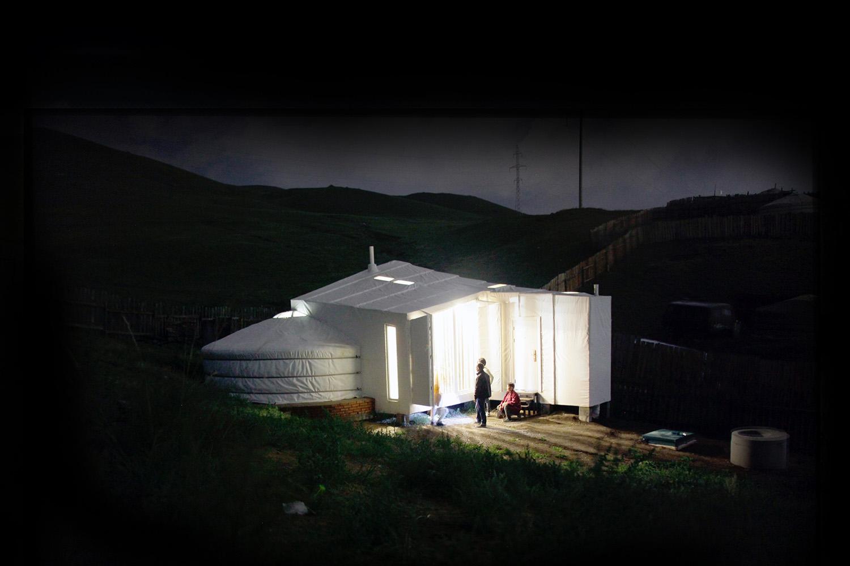 Ger Plug-in at night Rural Urban Framework (RUF)