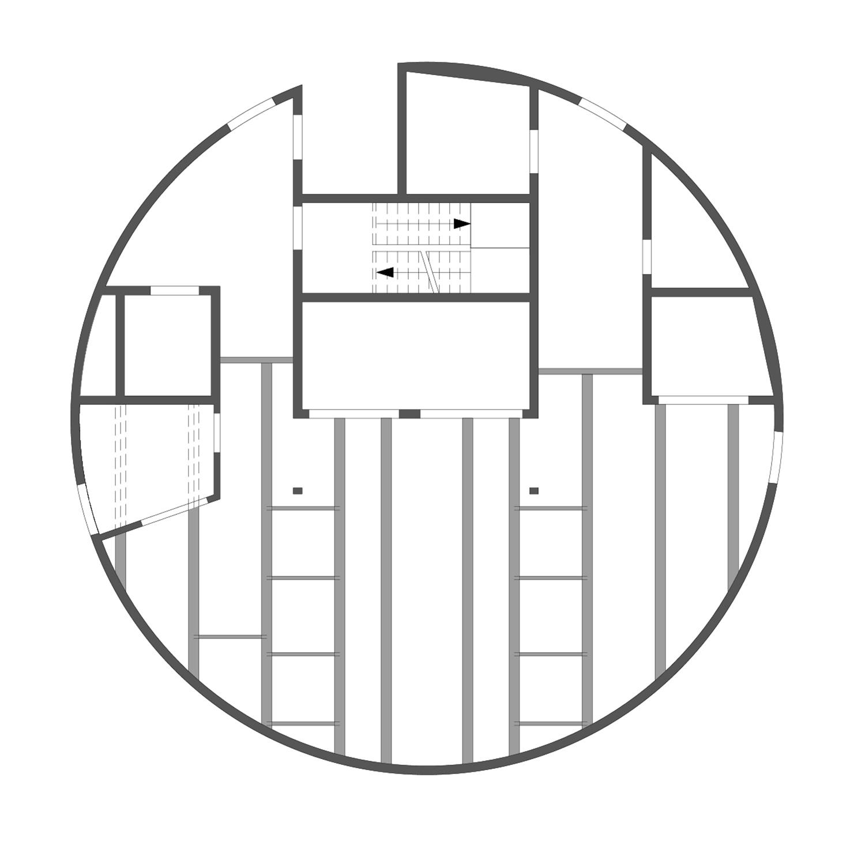 ThyssenKrupp Test Tower - Floor plan level +196 Werner Sobek Stuttgart}