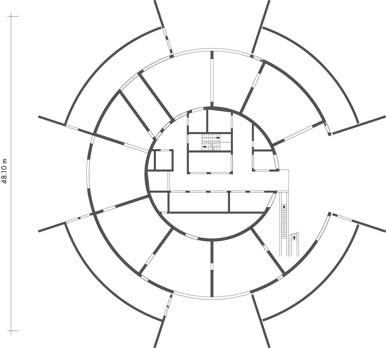 ThyssenKrupp Test Tower - Ground floor plan Werner Sobek Stuttgart}