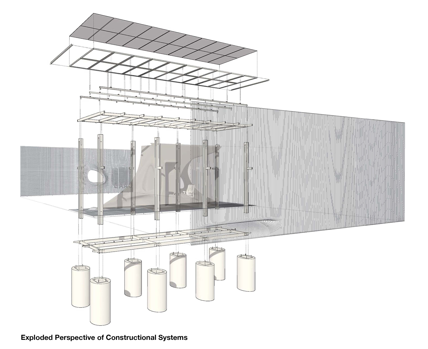 Exploded Perspective of Constructional Systems Sarah Awada}