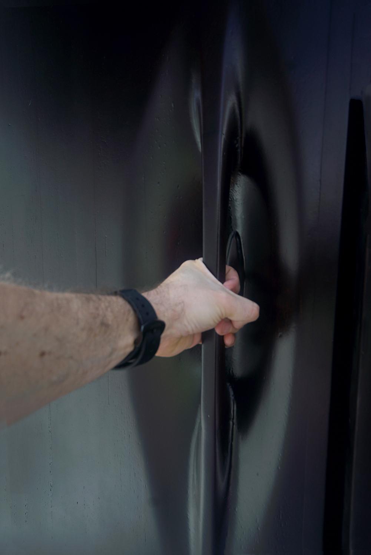 Door handle for Equipment Closet of Security Booth Juan Roldan, 2018