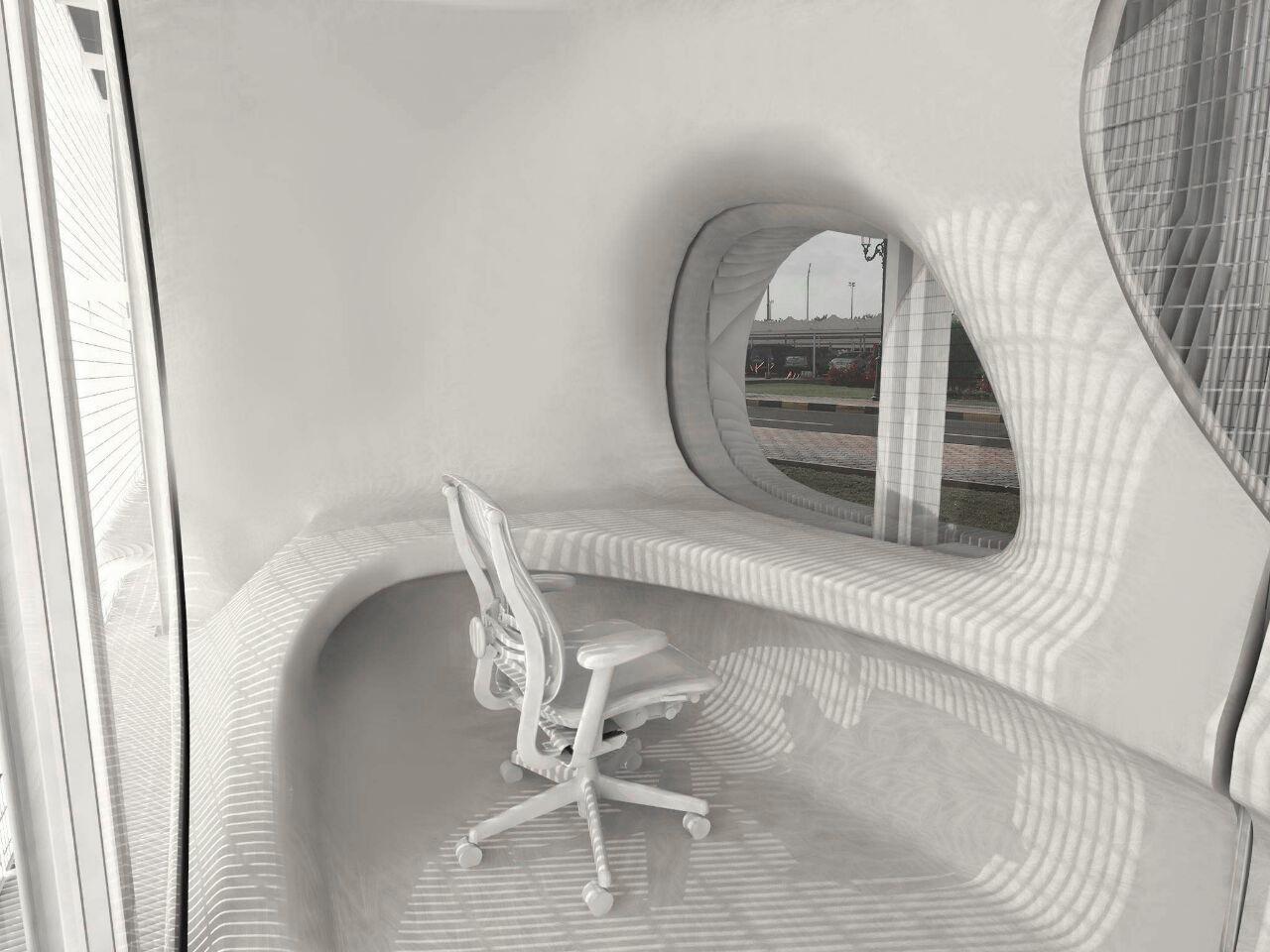 View of Interior of Security Booth Sarah Awada}