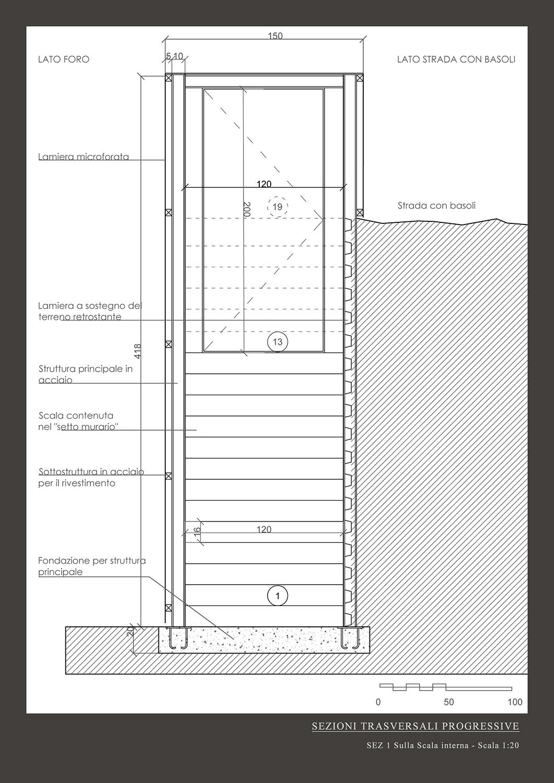 Sezione Trasversale1 Vitae Design studio di architettura}