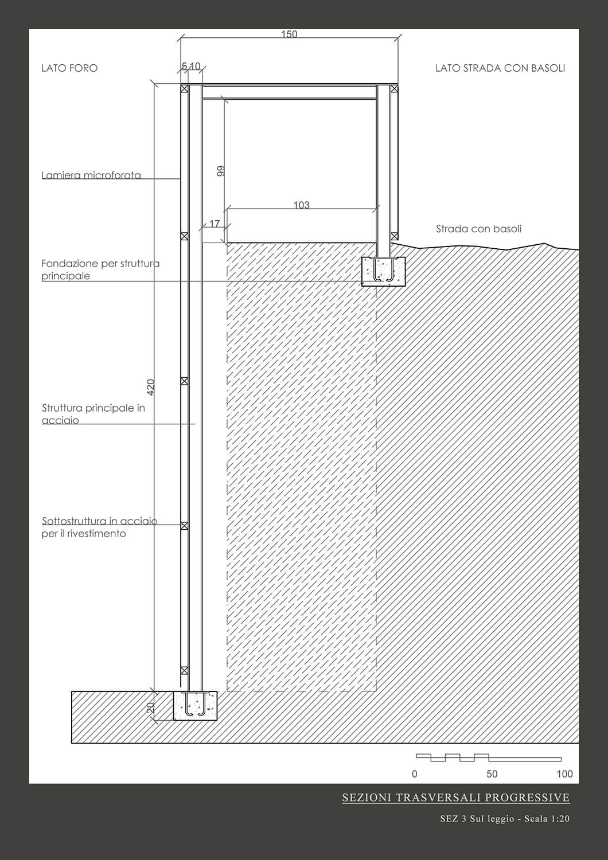 Sezione Trasversale 3 Vitae Design studio di architettura}