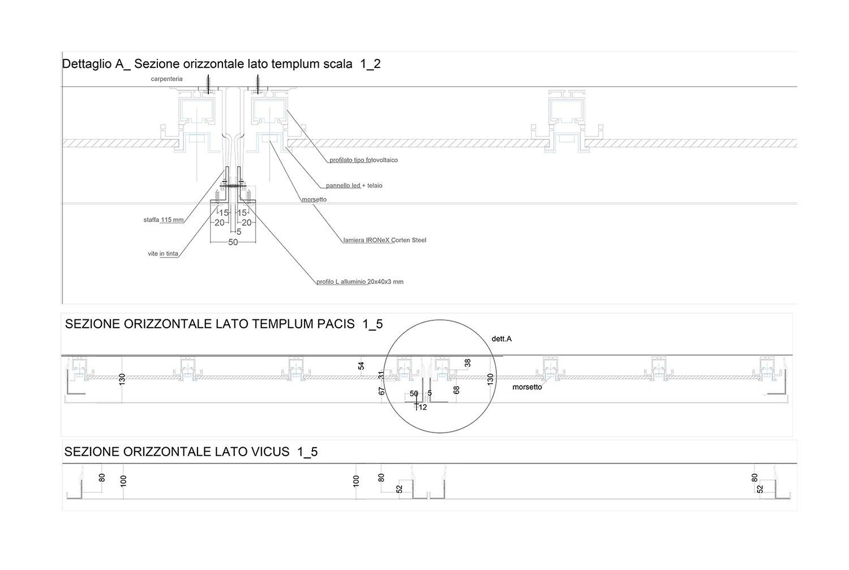Sezione orizzontale_dettaglio sottostruttura Vitae Design studio di architettura}