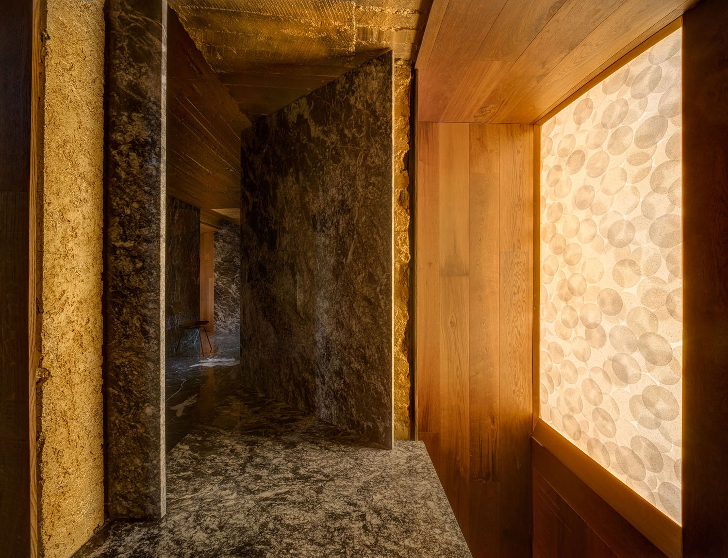 Marble, Wood, Paint. Rice. Photo: Studio Chirika}