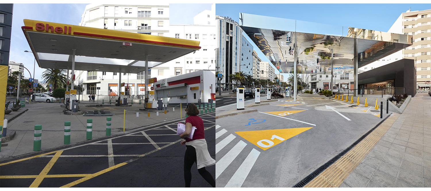 BEFORE and AFTER ROMERA Y RUIZ ARQUITECTOS}