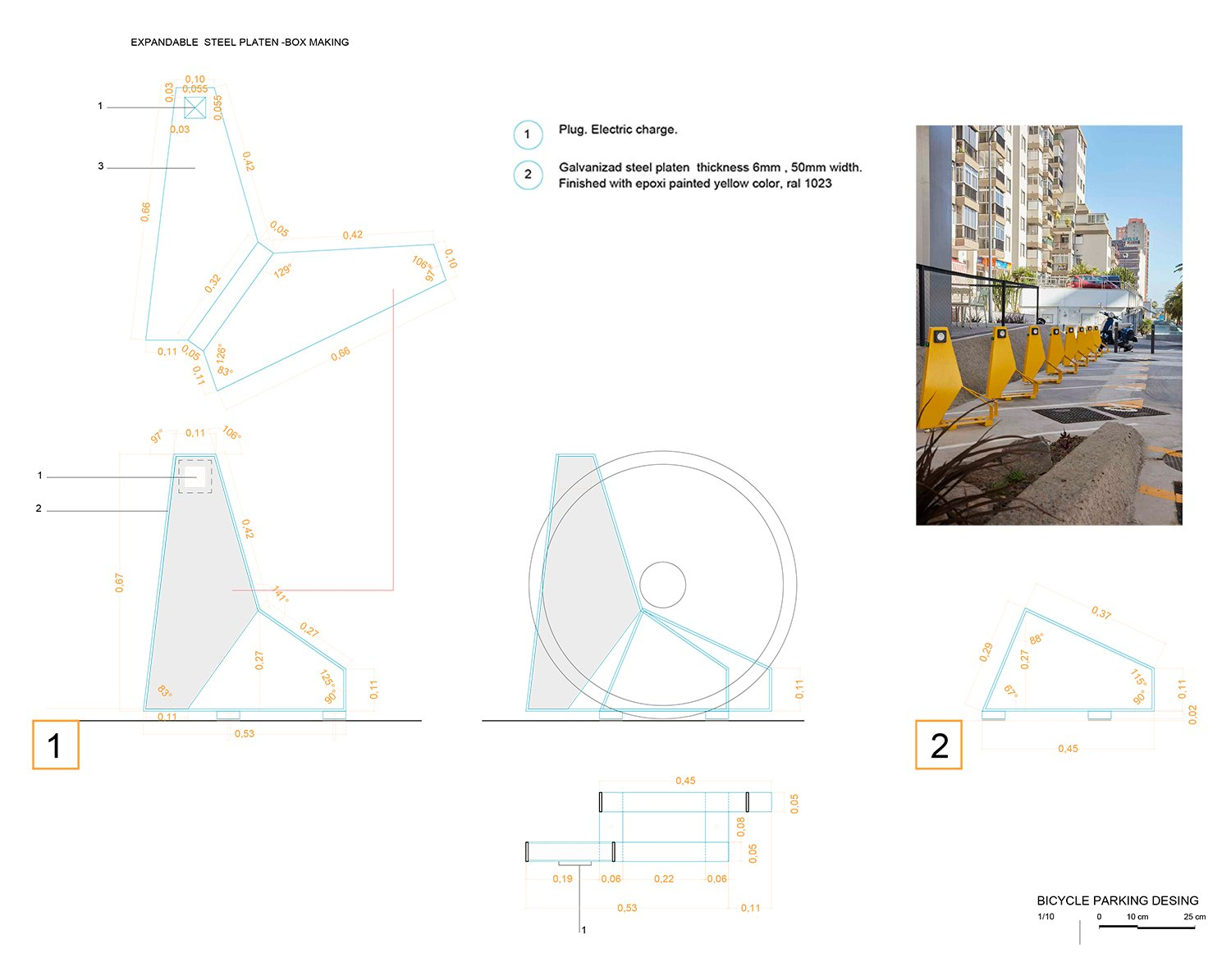 BICYCLE PARKING ROMERA Y RUIZ ARQUITECTOS}