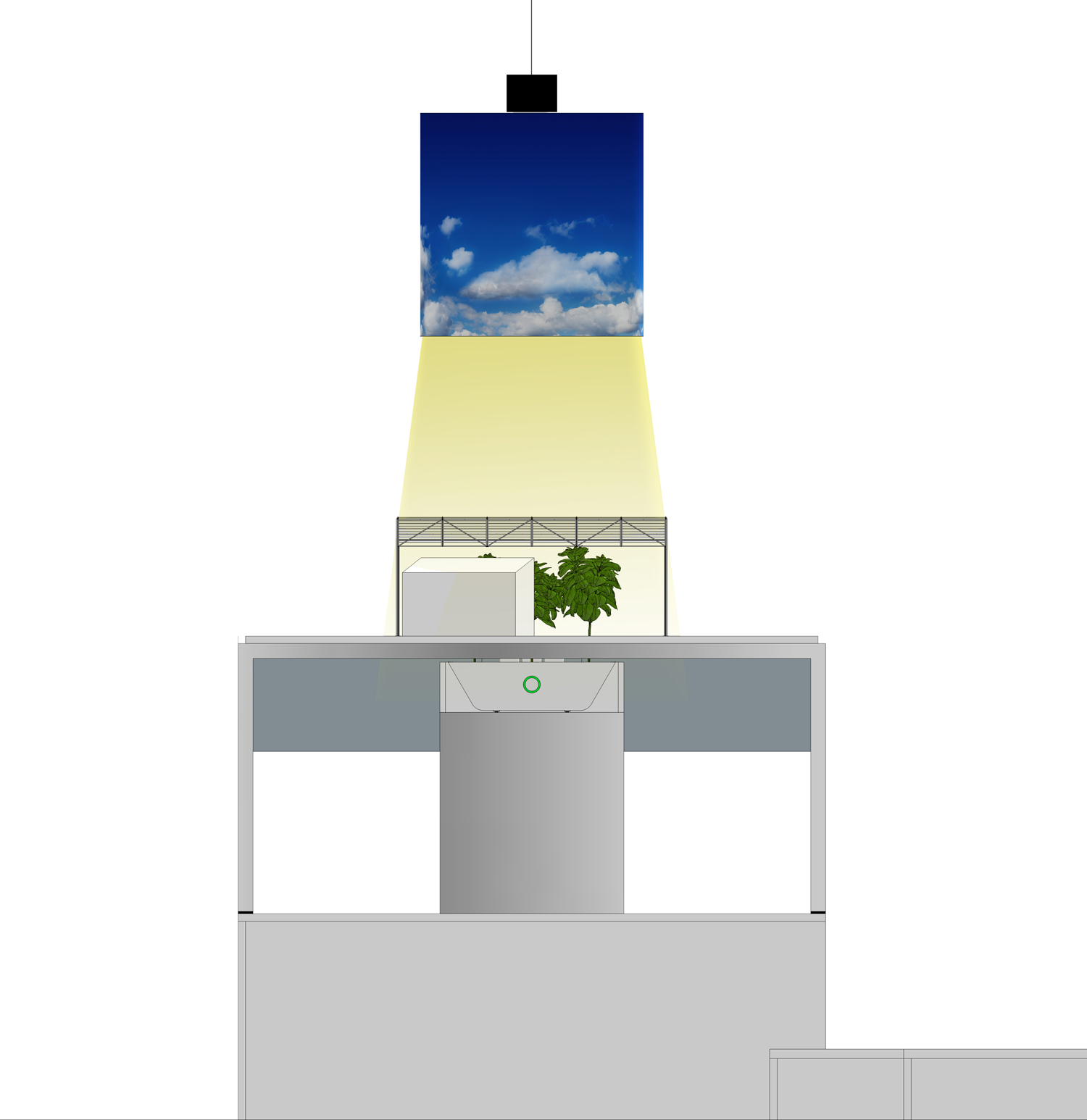 Designed display inside pavilion conceptual approach Peia Associati}