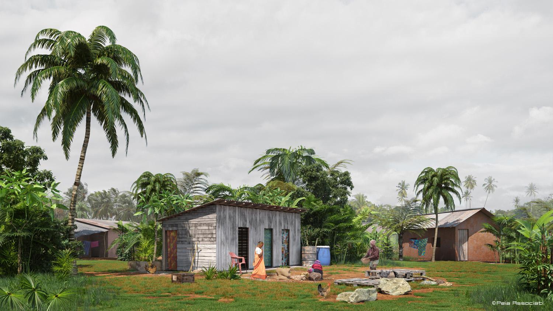 Dwelling unit in Rural Sri Lankan areas Peia Associati}