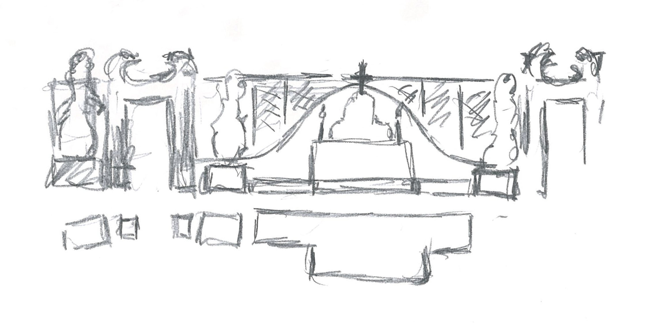 Sketches of the first design idea Fonti}