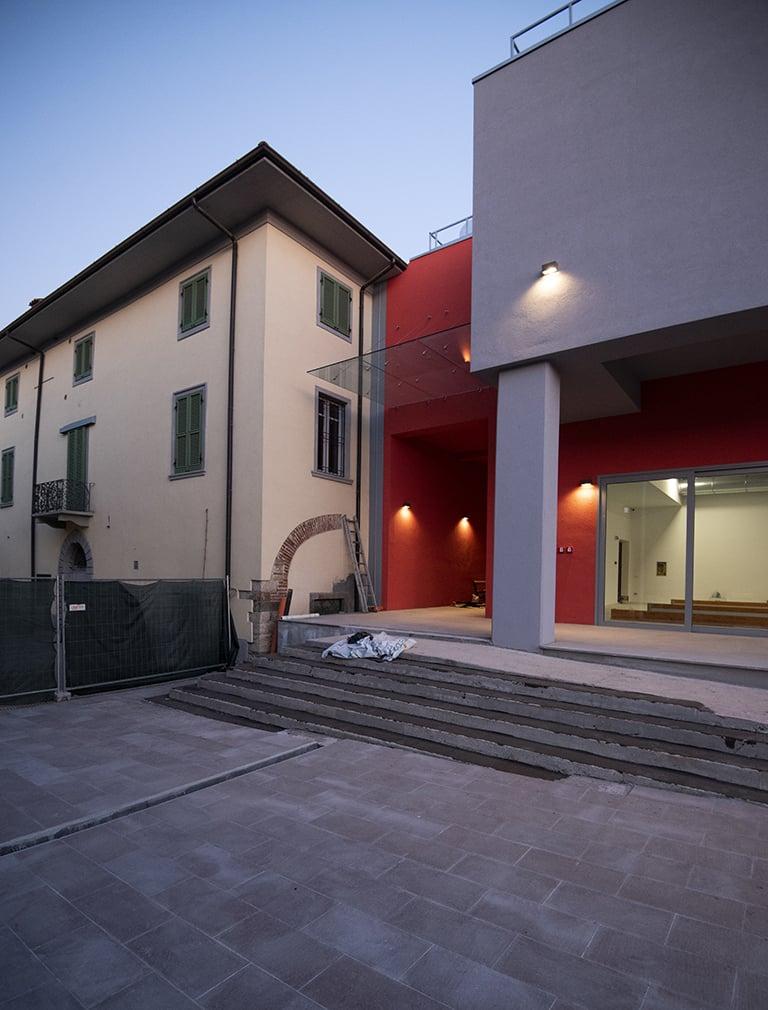 Cantiere: il bocciodromo e la Villa Colleoni MAT - Luca Moretto
