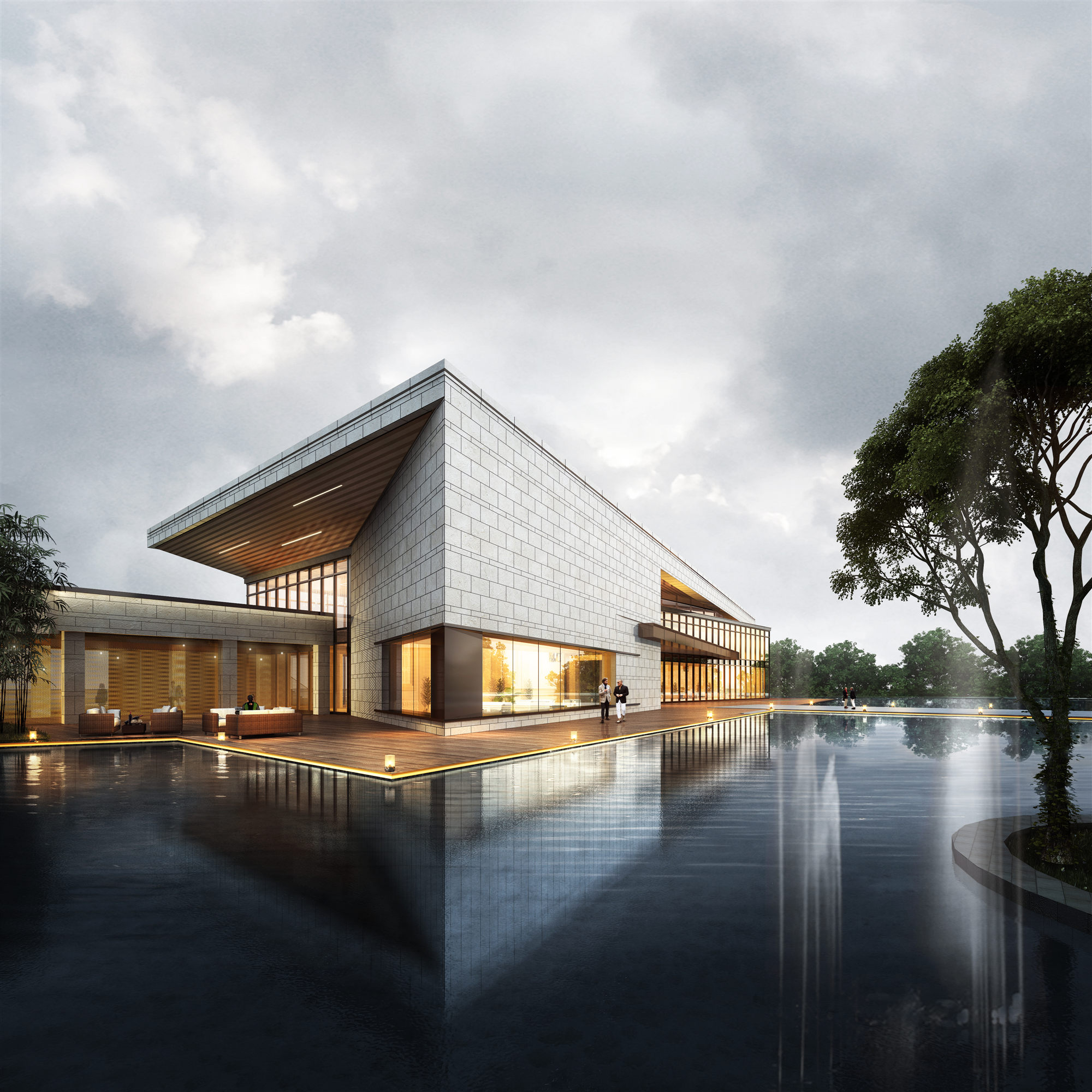 Rendering-The south entrance Lacime Architects}