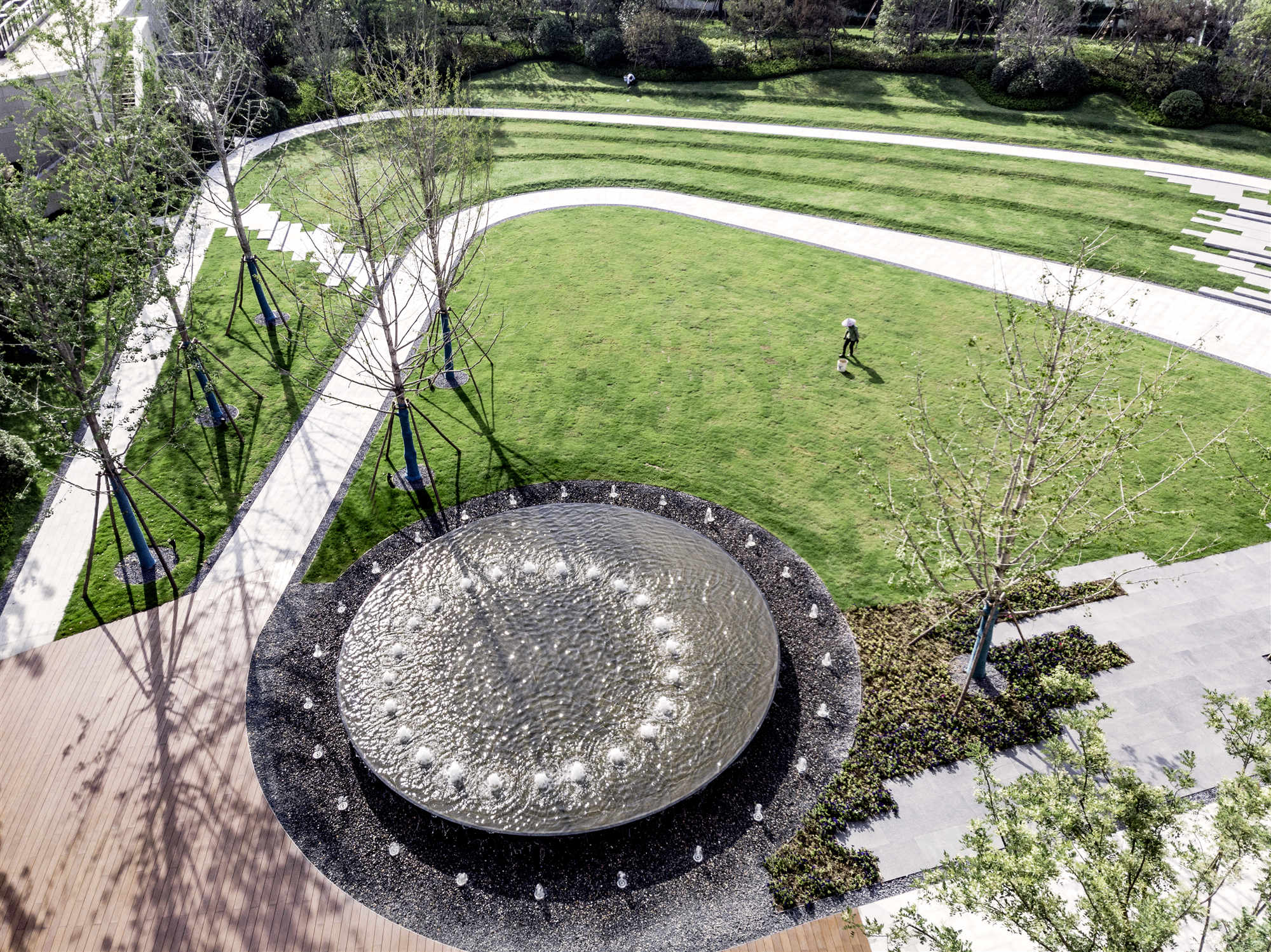 Landscape fountain Lacime Architects