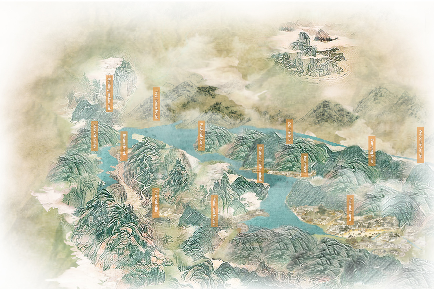 Archaic rendering Drawn by TShanghai Tianhua Architectural Design Co., Ltd.}