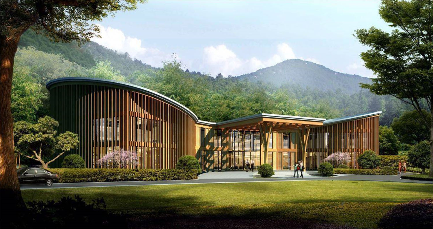 Welcome center2 Drawn by Shanghai Tianhua Architectural Design Co., Ltd.}
