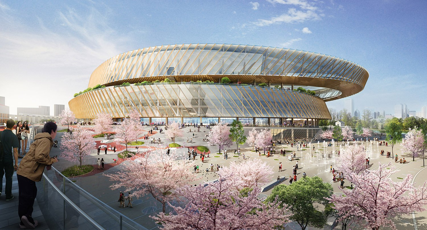 Shanghai's Hongkou Stadium was China's first professional soccer stadium.  The stadium is embarking on a transformation which will reposition it at the center of a new health and wellness district. SASAKI