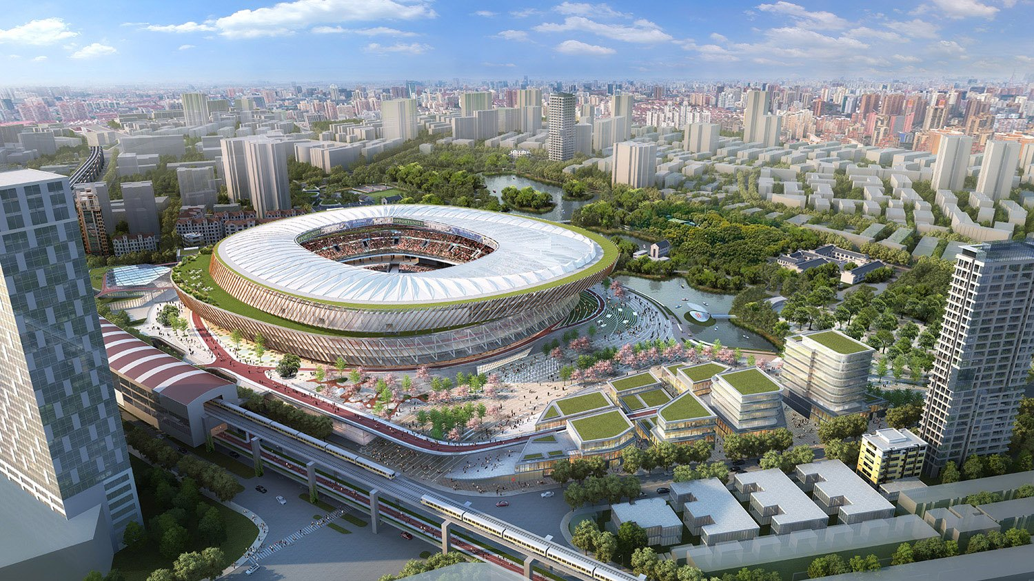 The stadium is located at the intersection of two of Shanghai's most important cultural and historical districts, with excellent accessibility and visibility benefiting from the three existing metro lines. SASAKI