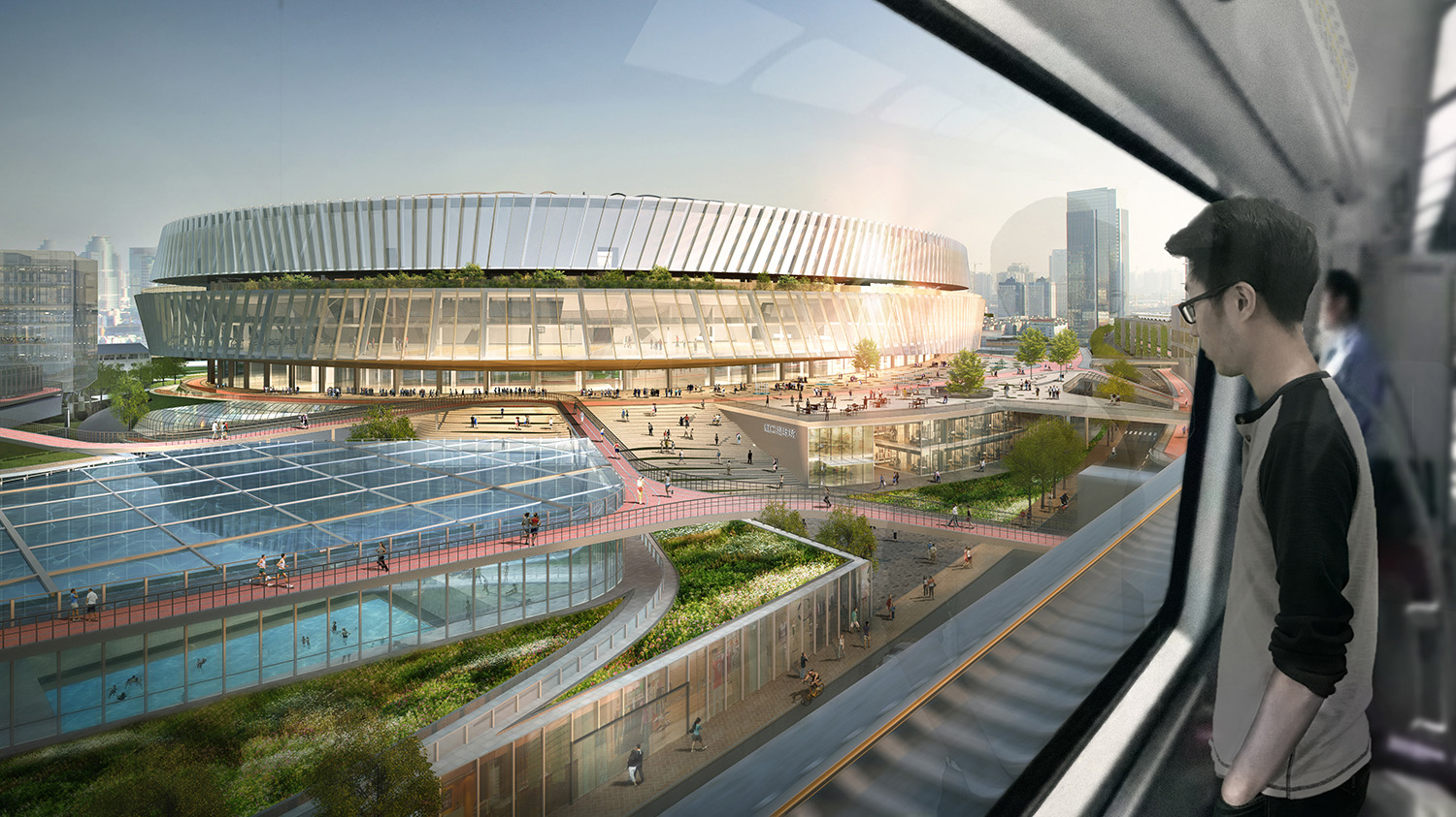 To enhance circulation and maximize efficiency during large events, the redesign of the stadium offers seamless connectivity with the subway and light rail, encouraging fans to use public transit. SASAKI