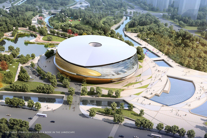 Table tennis Stadium aerial view © Archi-Tectonics